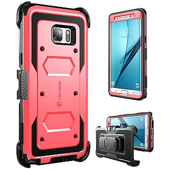 i-Blason-Galaxy Note 7 Case-Armorbox Fullbody Case-Red