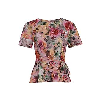 Love2Dress Floral Top With Peplum Hem