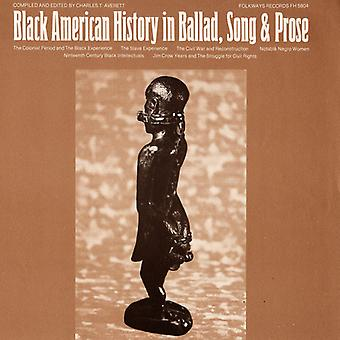 Black American History in Ballad Song & prosa - Black American History in importazione USA ballata canzone & prosa [CD]