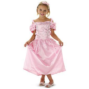 Princesa vestido kids pink traje vestido fantasia infantil