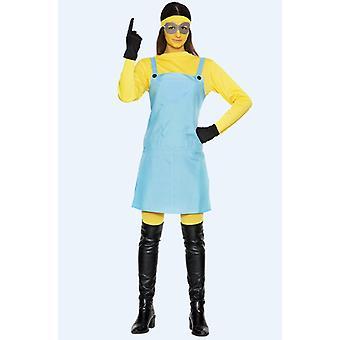 Yellow woman costume yellow dwarf one eye ladies one size