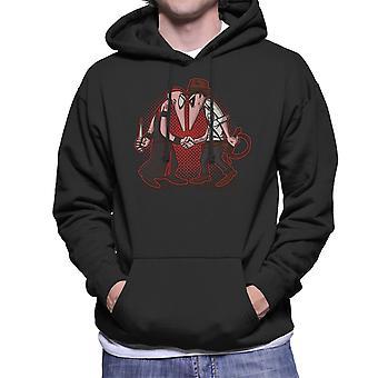 Raider Vs Priest Indiana Jones Vs Mola Ram Temple of Doom Spy Vs Spy Men's Hooded Sweatshirt