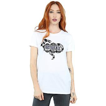 Beetlejuice Women's Sandworm Logo Boyfriend Fit T-Shirt