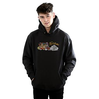 The Flintstones Men's Family Car Distressed Hoodie