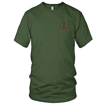 US Army - EOD Explosive Ordnance Disposal Master Badge OD Embroidered Patch - Mens T Shirt