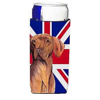 Vizsla mit englischen Union Jack britische Flagge Ultra Getränke Isolatoren für schlanke c