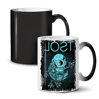 Lost Space Planet Geek NEW Black Colour Changing Tea Coffee Ceramic Mug 11 oz | Wellcoda