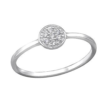 Micro Pave Round - 925 Sterling Silver Cubic Zirconia Rings - W30976x