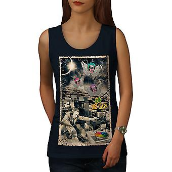 Not Real Life DJ Music Women NavyTank Top | Wellcoda