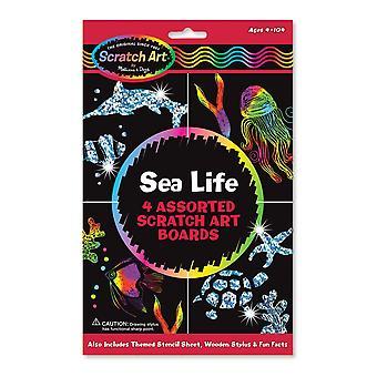 Melissa & Doug Scratch Art aktivitet Kit - Sea Life