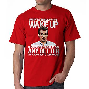 Married With Children Wake Up Better Men's Red T-shirt