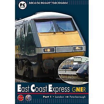 Gner East Coast Express Part 1 London to Peterborough - MS Train Simulatorin (PC CD) lisäosa - Uusi