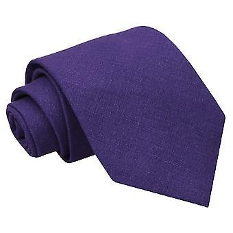 Purple Hopsack Linen Classic Tie
