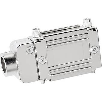Provertha 77152M D-SUB adapter housing Number of pins: 15 Plastic, metallised 90 ° Silver 1 pc(s)