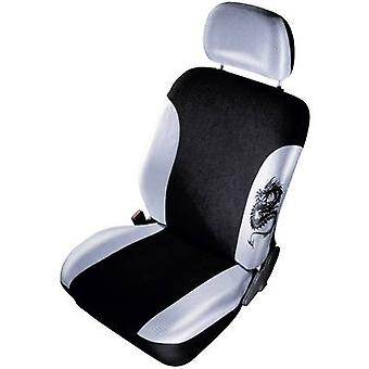 cartrend 79-5320-03 Mystery Seat covers 11-piece Polyester Gun grey, Black Drivers seat, Passenger seat, Back seat