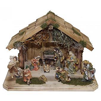 Crib EUFRAT wooden crib Nativity Christmas Nativity stable