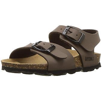 Kids Bayton Girls Pegase Buckle SlingBack Wedge Sandals