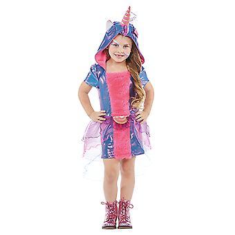 Einhorn Kinder Kostüm für Mädchen Fabelwesen Fantasy Karneval Unicorn