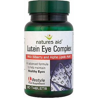 Natures Aid Lutein Eye Complex with Bilberry, 30 tablets