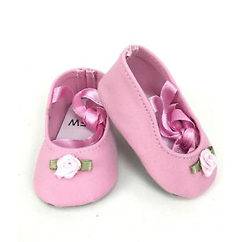 Lace Up Ballet Slippers - Pink for 18 Inch Dolls