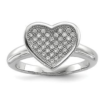 925 Sterling Silber und CZ Zirkonia simuliert Diamant Phantasie Liebe Herz Ring Schmuck Geschenke für Frauen - Ring Größe: 6