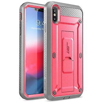 iPhone XS Case, [Unicorn Beetle Pro Series] Full-Body Rugged Holster Case with Built-In Screen Protector 2018 (Pink)