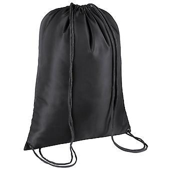 TRIXES svart dragsko sport Gym säck simning PE väska