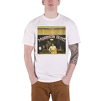 The Doors T Shirt Morrison Hotel Album Cover Band Logo new Official Mens White