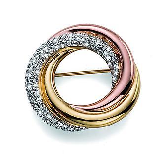 Oliver Weber Brooch Unite Rhod/Gold Crystal