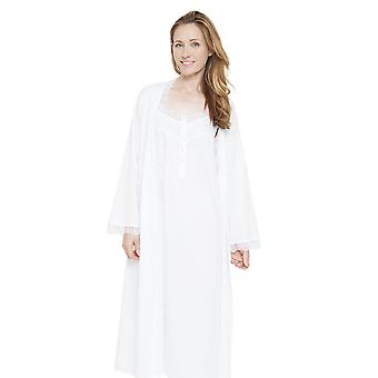 Cyberjammies 1315 kvinners Nora Rose Pearl White oppdaget slåbrok Loungewear kappe