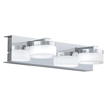 Eglo - Romendo 2 licht LED badkamer Over spiegel muur montage In gepolijste chroom afwerking EG94652