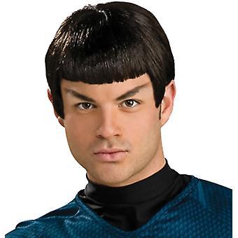 Peruk med öron för Spock kostym