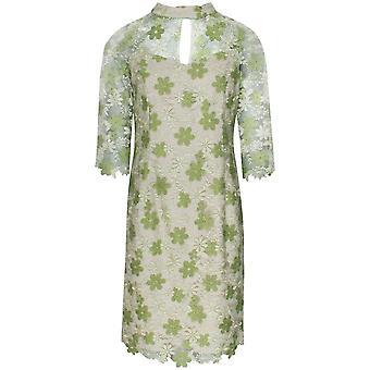 Michaela Louisa Cut Out Collar Lace Overlay Dress