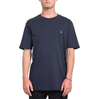 Volcom Stone Blank Short Sleeve T-Shirt in Navy