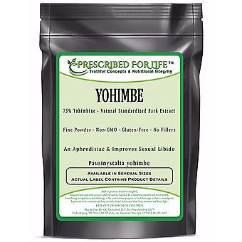 Yohimbe-corteza natural de extracto de polvo-> 75% yohimbina