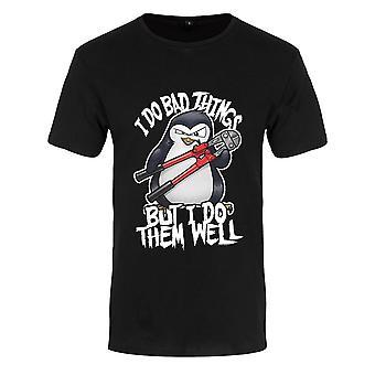 Psico Penguin mens I do Bad Things camiseta Premium
