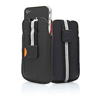 Cygnett Boston Leather Case with Pull Tab for iPhone 4/4S (Black)