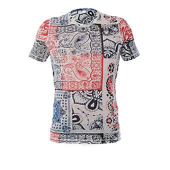 120% P0m7186000f606301p050 Men's Multicolor Linen T-shirt
