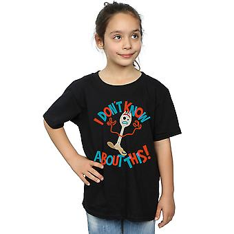 Disney Girls Toy Story 4 Forky I Don't Know About This T-Shirt