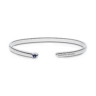 Charleston Southern University Sapphire Cuff Bracelet In Sterling Silver Design by BIXLER