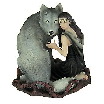 Anne Stokes Soul Bond Hand Painted Statue
