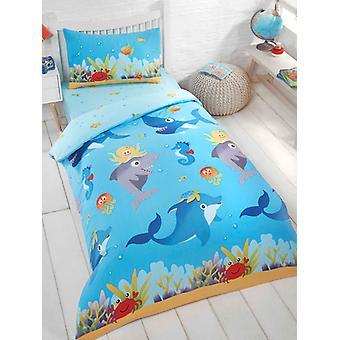 Sea Life 4 in 1 Junior Bettwäsche Bundle (Bett, Kissen und Abdeckungen)