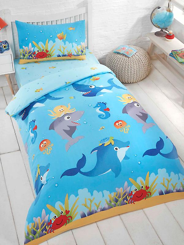 Sea Life 4 in 1 Junior Bedding Bundle (Duvet, Pillow and Covers)
