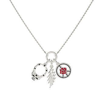 Grateful Dead During Necklace In Sterling Silver Design by BIXLER