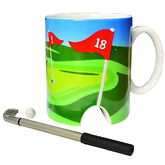 Tasse de golf et mini putter