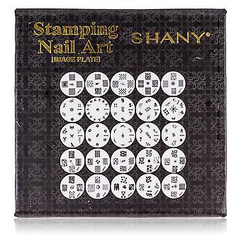 SHANY Nailart Polish Stamping Manicure Image Plates with Storage - 25 Designs