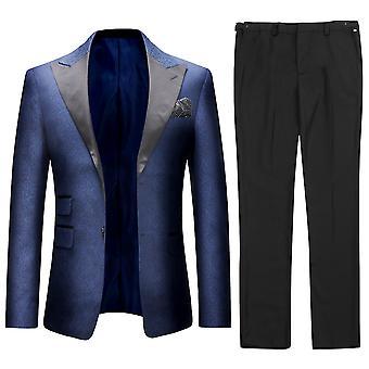 Allthemen الرجال & apos;s البدلة الرسمية الزفاف 2-قطع حفلة حفلة دعوى اللباس بليزر & السراويل