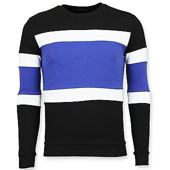 Striped Sweater Man - Sweater - Blue
