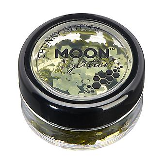 Classic Chunky Glitter by Moon Glitter – 100% Cosmetic Glitter for Face, Body, Nails, Hair and Lips - 3g - Gold