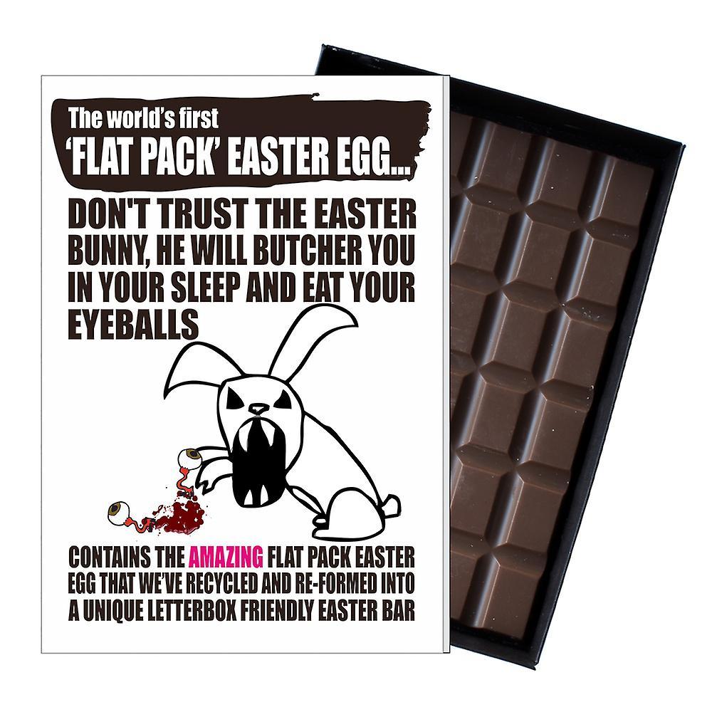 Funny Flat Easter Egg Chocolate Bar Greeting Card Gift Men Boyfriend Husband UK EIYF103